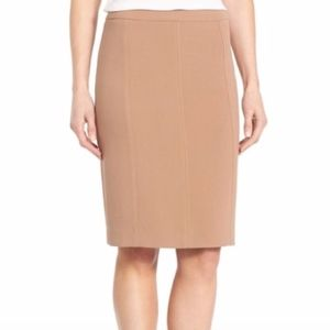 HALOGEN Pencil Skirt 14 Camel LNUC
